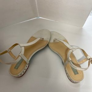 Betsey Johnson Sandals with heel pearls Size 9
